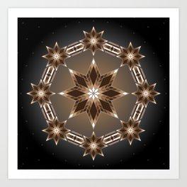Morning Star Circle (Brown) Art Print