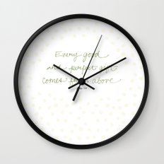 Every good + perfect gift Wall Clock