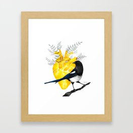 The wind-up bird Framed Art Print