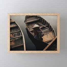 Fisherwoman in Hoi An, Vietnam Framed Mini Art Print