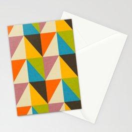 Retro Color Block Chevron Color Fun Stationery Cards
