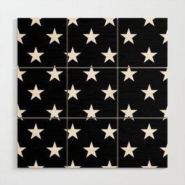 Stars (White/Black) Wood Wall Art