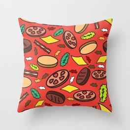 """u 4got the picklz"" Repeating Pattern Throw Pillow"