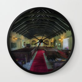 Olde Lamp Church Wall Clock