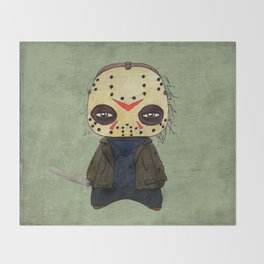A Boy - Jason ( Friday the 13th) Throw Blanket