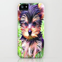A Cute Teacup Yorkshire Terrier iPhone Case