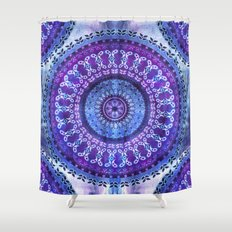 Hydrangea Mandala Shower Curtain
