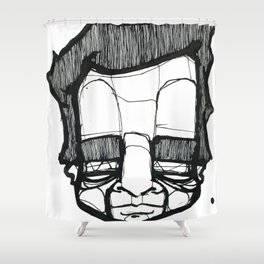 faceball Shower Curtain