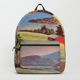 Lake George, Adirondack Mountains, New York pastoral landscape painting by Judson Smith Backpack