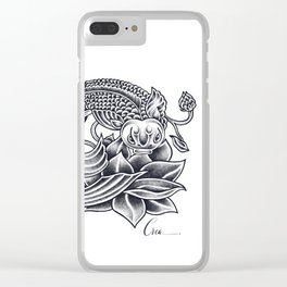 Koi and Lotus - Courage and Beauty Clear iPhone Case