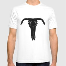 Skull (No.1) MEDIUM Mens Fitted Tee White