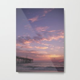 Nags Head Pier Sunrise Metal Print
