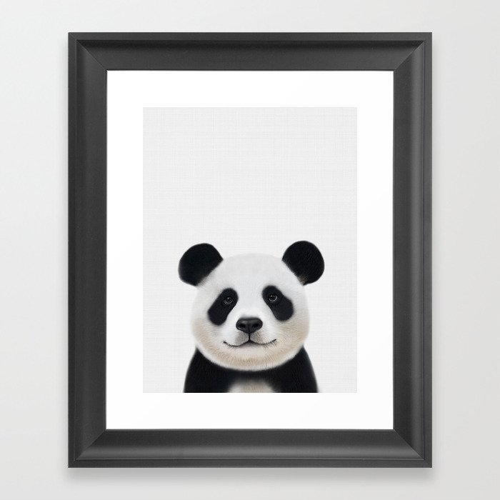 Panda Print Nursery Art Decor Animal Baby Animals Framed