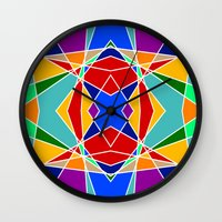 cracked Wall Clocks featuring Cracked by MarkStantonDesign