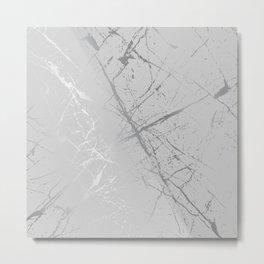 Silver Splatter 089 Metal Print
