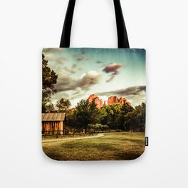 Southwest Chimney Rock Vortex Sedona Arizona Tote Bag