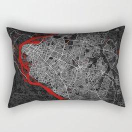 Asunción City Map of Paraguay - Oriental Rectangular Pillow