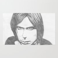iggy Area & Throw Rugs featuring Iggy Pop - Sketch by Hey!Roger