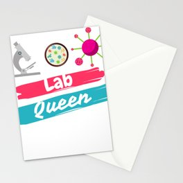 LAB QUEEN! Medical Laboratory Scientist Tech Micro Stationery Cards