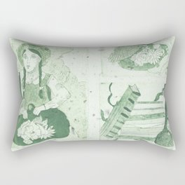 Anne of Gren Gables Green Rectangular Pillow