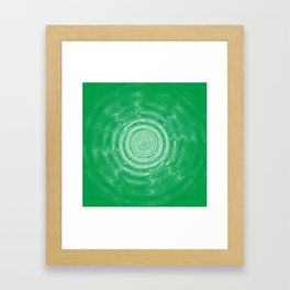 Ripples_Green Framed Art Print