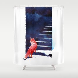 Should I stay? Shower Curtain