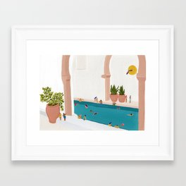 Alcove pool Framed Art Print