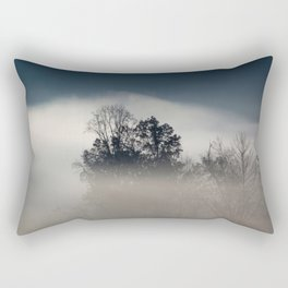 Morning Fog with Trees Rectangular Pillow