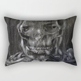 Death Smokes Rectangular Pillow