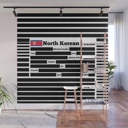 North Korea News Paper Wall Mural