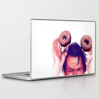 actor Laptop & iPad Skins featuring Steve Buscemi and donuts by Thubakabra