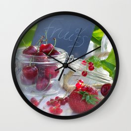 Fresh fruits summer Wall Clock