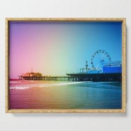 Santa Monica Pier Rainbow Colors Serving Tray