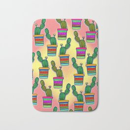 Cactus Drawing Bath Mat