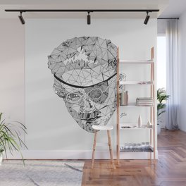 James Joyce - Hand-drawn Geometric Art Print Wall Mural