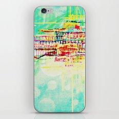 futuristic world in turquoise iPhone & iPod Skin