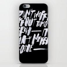 TOMORROW/2/ iPhone & iPod Skin