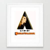 ultraviolence Framed Art Prints featuring ULTRAVIOLENCE by ELIAOKO
