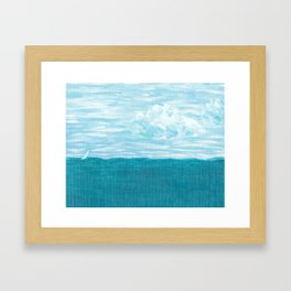 Chasing The Clouds Away Framed Art Print