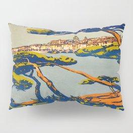 Vintage poster - Menton Pillow Sham