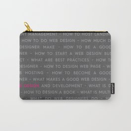 Web Design Words Poster Carry-All Pouch