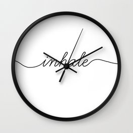 inhale exhale (1 of 2) Wall Clock