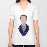 hannibal V-neck T-shirts featuring Hannibal by Alice Wieckowska