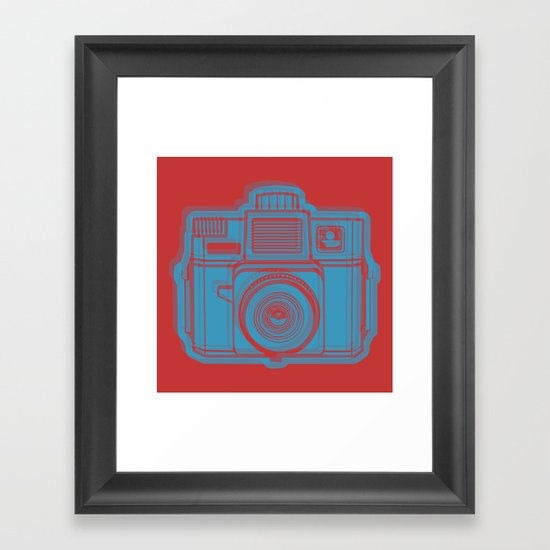 I Still Shoot Film Holga Logo - Red & Blue Framed Art Print