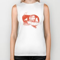 moby dick Biker Tanks featuring Moby Dick by Paul McCreery