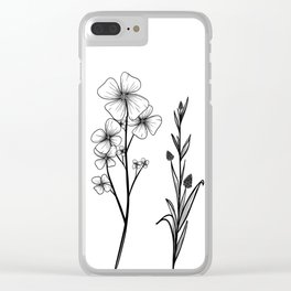 Stemmed Weeds Clear iPhone Case