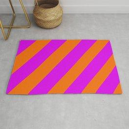 Bright Stripes Purple and Orange Rug