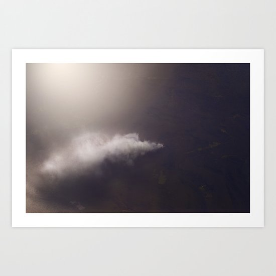 in the sky and rising Art Print