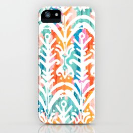 Beautiful Colorful Tropical Colors Moroccan Traditional Pattern Seamless Pattern iPhone Case