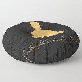 Gold Buddha 2 Floor Pillow